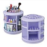 Make Up Cosmetic Jewellery Storage Organiser Box -Rotates 360 Degrees-Purple
