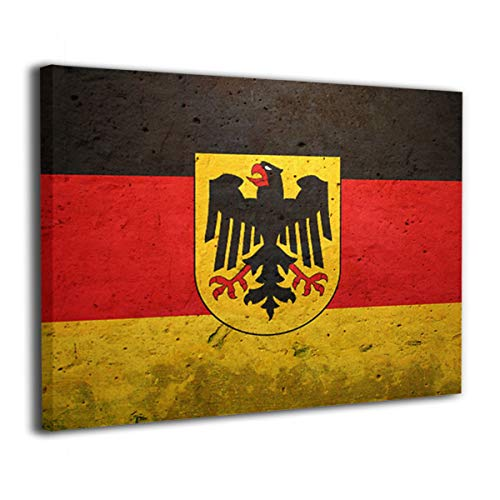 Arnold Glenn German Flag with The German Eagle Canvas Wall Art Prints Photo Contemporary Paintings Home Decoration Giclee Artwork Wood Frame Gallery Stretched
