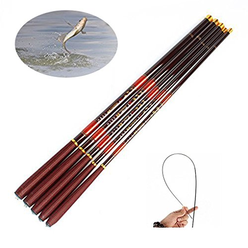 NEHO Fishing Rod Portable Telescopic Fishing Pole River and Creek Carp Spinning Ultra Light Fishing Rod with Size 3.6M-7.2M