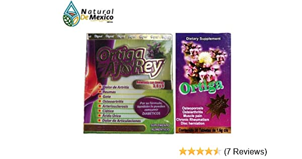 Amazon.com: Natural de Mexico Ortiga AJO Rey Omega 3, 5 9 Dietary Supplement Original: Health & Personal Care