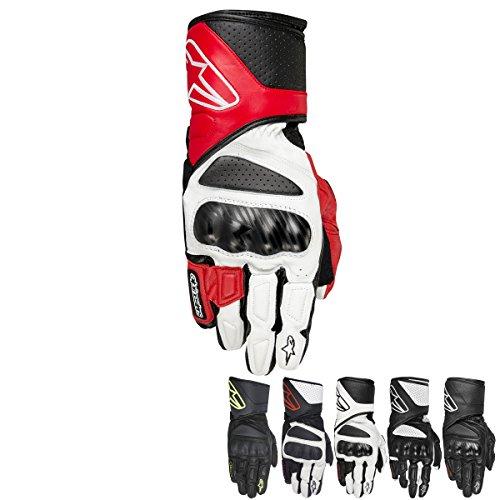 Alpinestars SP-8 Men's Leather Motorcycle Gloves - Black/Yellow / Large