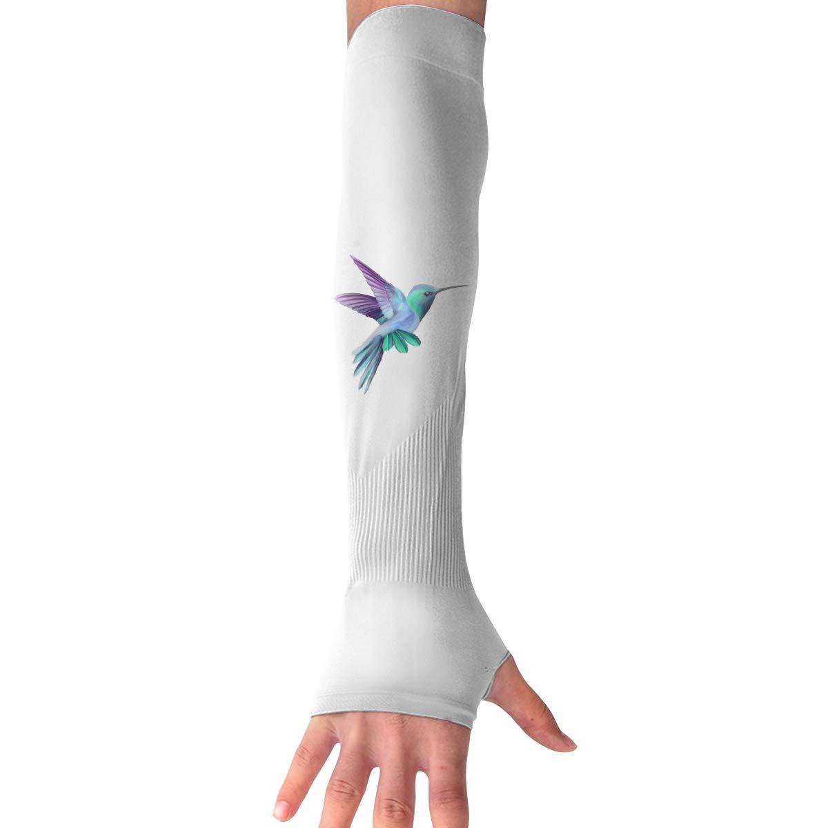 WAY.MAY Hummingbird Protection Cooling Warmer Long Arm Sleeves Sunblock Protective Fingerless Gloves Outdoor Sun Sleeve