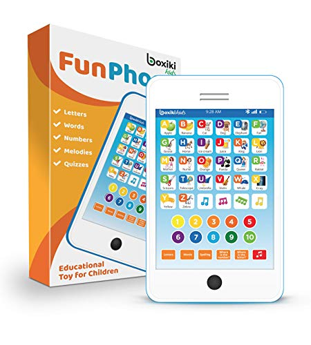 Learning Pad / Fun Phone with 6 Toddler Learning Games. Touch and...