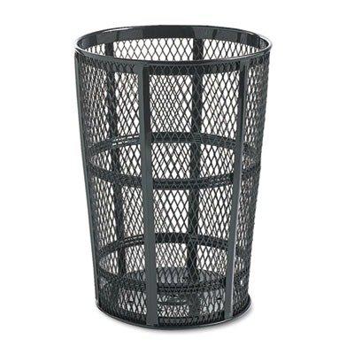 48-Gal Steel Street Basket Waste Round Receptacle by Rubbermaid Commercial Products