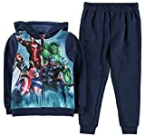 Kids Boys Print 2 Pieces Tracksuit Zip Hoody Bottoms (5-6 Yrs, Avengers)