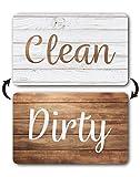 Dark Brown Wood Clean Dirty Dishwasher