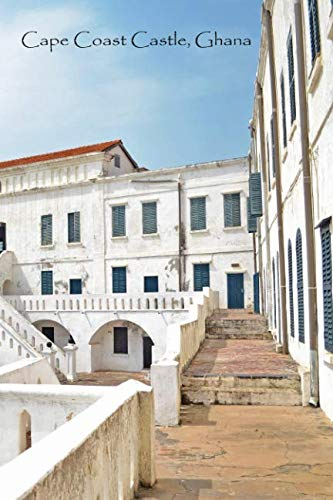 CAPE COAST CASTLE GHANA: White Softcover Note Book Diary   Lined Writing Journal Notebook   Pocket Sized   200 Pages   Ghana Africa Books