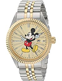 Mens Disney Limited Edition Quartz Stainless Steel Casual Watch, Color:Two Tone