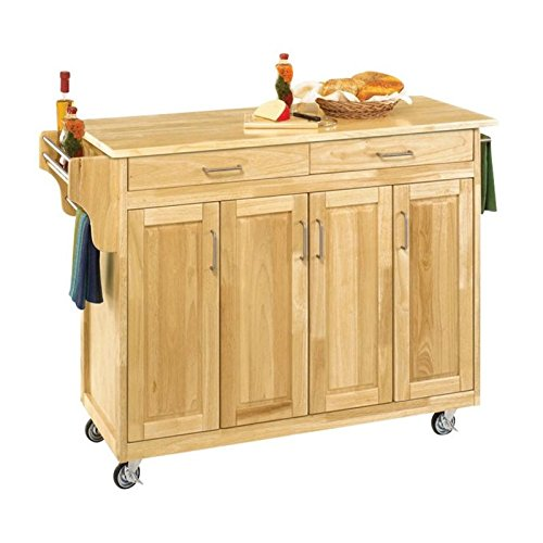 Home Styles 9200-1011 Create-a-Cart Cabinet Kitchen Cart with Wood Top, Natural Finish