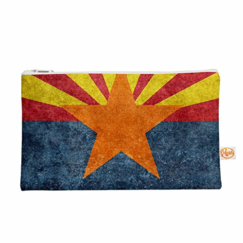 Kess eigene 12,5x 21,6cm Bruce Stanfield Arizona State Flagge Retro Style Alles Tasche–Orange/Blau