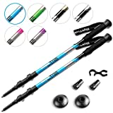 High Trek Hiking Poles [ Pair ] Telescopic Trekking / Walking / Climbing