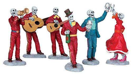 Lemax Spooky Town Fiesta De Los Muertos Set of 6 # 52309