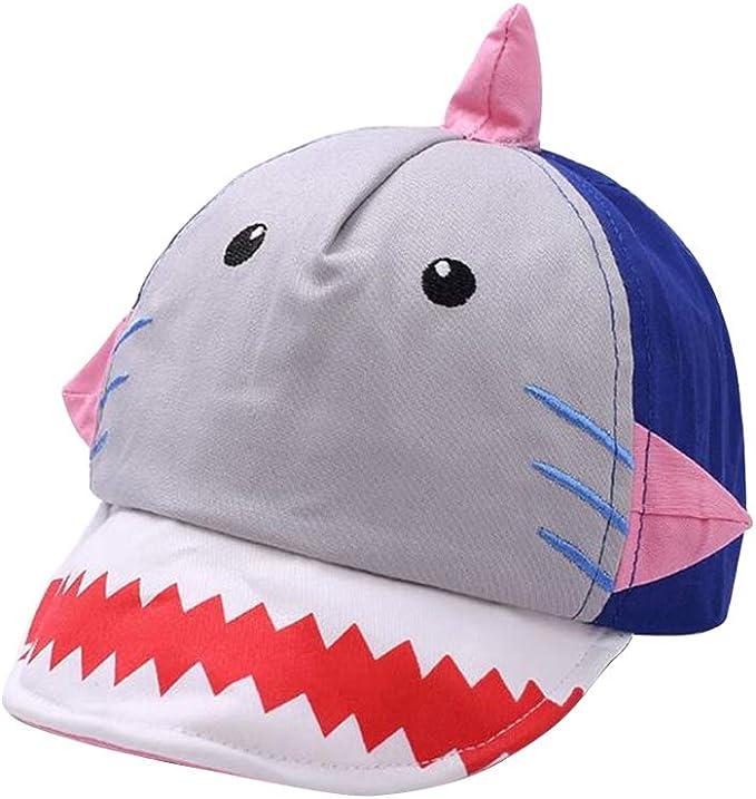 FENICAL Gorra de béisbol de algodón para niños Gorra de tiburón ...