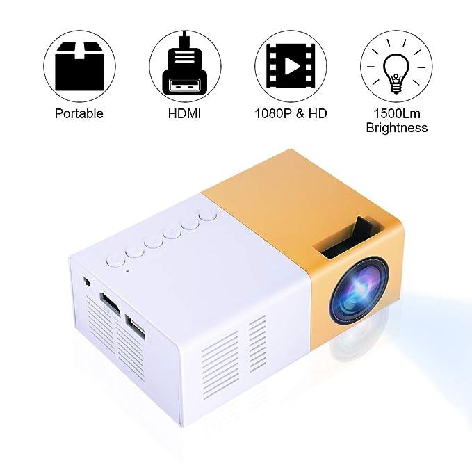 Bewinner Proyector Mini LED, Proyector LED Portátil HD Compatible ...