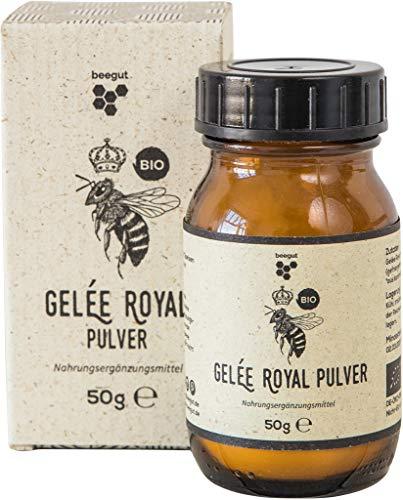 beegut BIO Gelée Royal Pulver, 50g gefriergetrocknetes Gelee Royal, lange haltbar ohne Kühlung