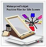 Waterproof Silkscreen Positive Film For Silk Screen 8.5' x 11' (100 Sheets)