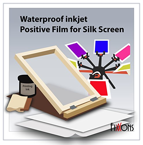 Waterproof Inkjet Positive Film For Silk Screen 8.5