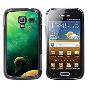 El amarillento Green Planet - Metal de aluminio y de plástico duro Caja del teléfono - Negro - Samsung Galaxy Ace 2