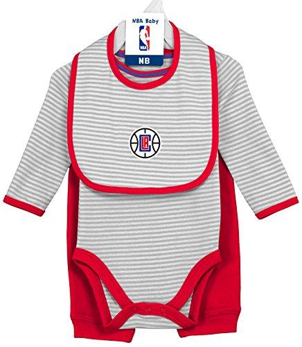 NBA by Outerstuff NBA Unisex-Baby NBA Newborn /& Infant Overtime Onesie Bib and Bootie