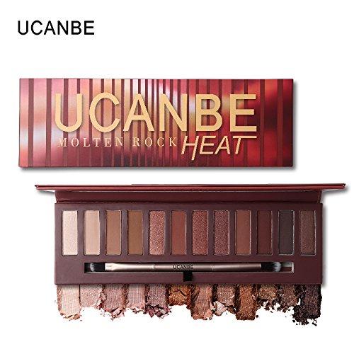 UCANBE Brand Hot Sale Molten Rock Heat Eye Shadow Makeup Palette Nude Shimmer Matte Smoky Eyeshadow Red Brown Pumpkin Cosmetics