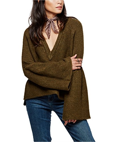 Free Pullover (Free People Lovely Lines Pullover Olive M)