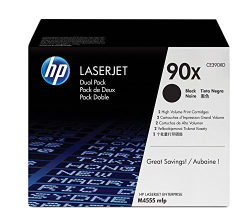 HP 90X (CE390X) BlackToner Cartridge High Yield, 2 Toner Cartridges (CE390XD) for HP LaserJet Enterprise 600 - Laserjet Enterprise M602n Hp 600
