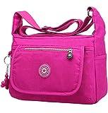 Washed Nylon Bag Girls Schoolbag Cross body Shoulder Bag Satchel Medium Women`s Casual Handbag