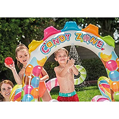Intex Kids Inflatable Candy 9.7ft x 6.25ft x 51in Pool with Waterslide (2 Pack): Toys & Games