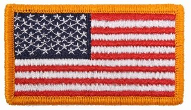 Forward Red White & Blue Military Embroidered Tactical Ameri