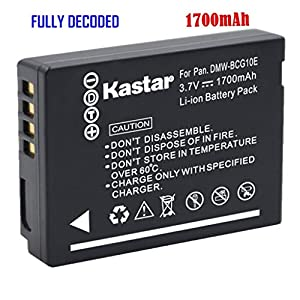 Kastar Charger, Battery for DMW-BCG10-1 DMW-BCG10 BCG10