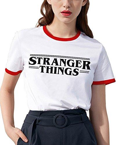 Collo Potter 03 Minetom Tops Camicia Stampare T Bicchieri Blusa Corte Maglietta Manica Gatto Lettere Casuale Stranger Donna Estate Rotonda Harry Shirt RzRFqw0EO