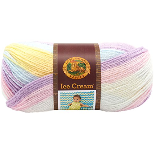 (Lion Brand Yarn 923-201 Ice Cream Yarn, Cotton Candy)