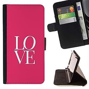 Momo Phone Case / Flip Funda de Cuero Case Cover - Texto letras rosadas minimalistas de San Valentín - Sony Xperia M4 Aqua