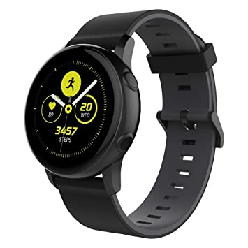 UMTELE Compatible with Samsung Galaxy Watch Active Bands, 20mm Soft Silicone Replacement Strap Sports Wrist Band Compatible with Galaxy Watch Active & ...