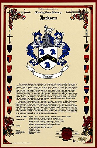 , Family Crest and Name History - Celebration Scroll 11x17 Portrait - Spain Origin (Arms Poster Print)