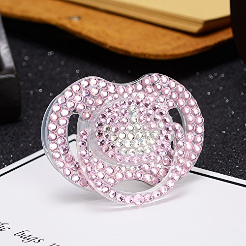 MIYOCAR luxurious bling bling pink crystal rhinestone with crown Pacifier/ Nipples /Dummy /cocka /chupeta baby gift babyshower