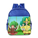 Online Curious George School Bag School Backpack For Girls, Boys, Kids, Students-RoyalBlue