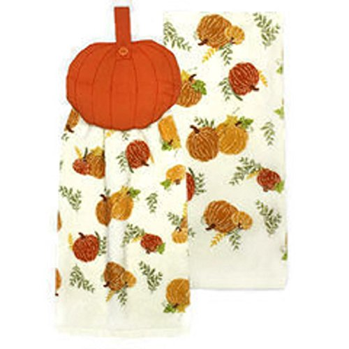 Thanksgiving Fall Harvest Kitchen Dish Towels Pack of 2