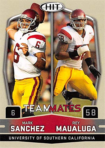 the best attitude 2d368 c256a Mark Sanchez & Rey Maualuga Football Card (USC Trojans) 2009 ...