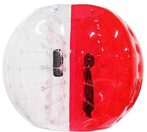 Bubble Knocker Soccer Ball | 1.5M (5ft) Inflatable Human Hamster Zorb Ball | Perfect for Kids Adults Parties Rentals | Carry Bag & Repair Kit Included | Safe / Durable / Easy to Use | Roll Bump Bounce (Human Water Hamster Ball)