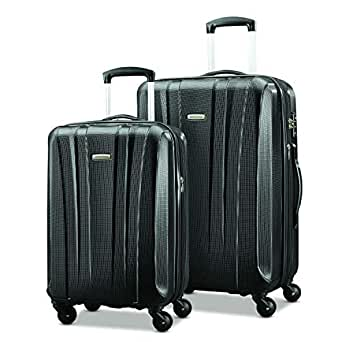 "Samsonite Pulse Dlx Lightweight 2 Piece Hardside Set (20""/28""), Black, Exclusive to Amazon"