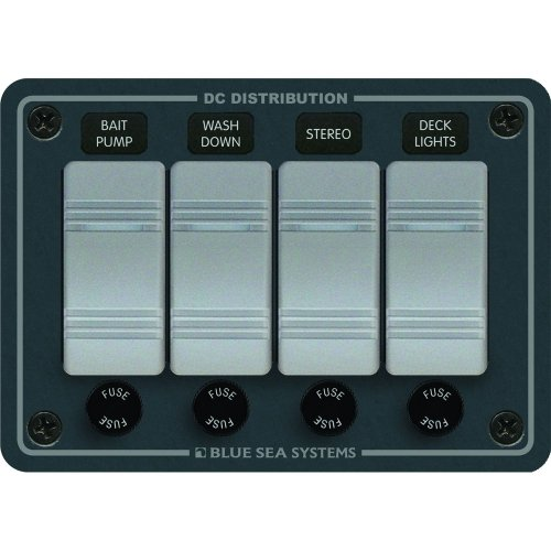 BLUE SEA SYSTEMS Blue Sea 8262 Waterproof Panel 4 Position - Slate Gray / 8262 / by Blue Sea Systems