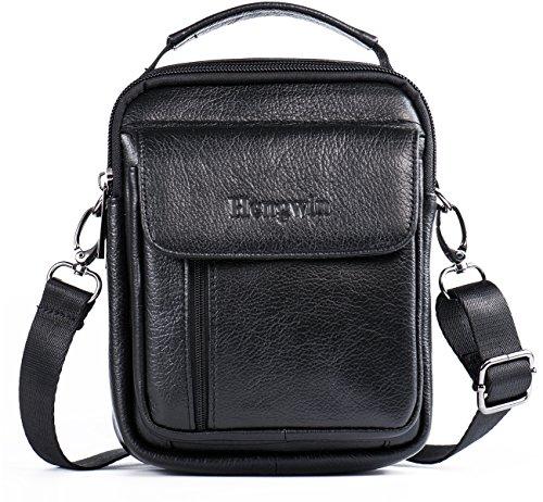 Hwin Holster Case with Belt Loop Leather Men Small Crossbody Travel Shoulder Bag Belt Pouch Waist Bag Fanny Messager Pack Handbag Purse iPhone 6s/7/8 Plus Briefcase Business Work Bags+Hwin Keychain ()