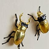 Bwlzsp American Creative beetles three dimensional wall hanging wall decoration living room study LU713920 (Color : 2 pcs)