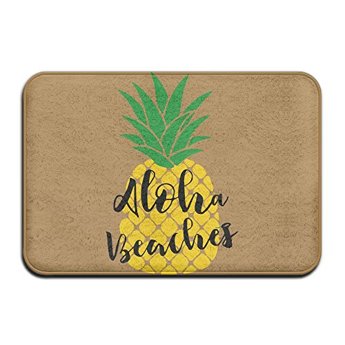 KOESBY-MT Coral Velvet Memory Foam Bath Mat Aloha Beaches Bathroom Doormats by KOESBY-MT