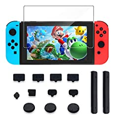 Keep your Nintendo Switch from from everyday wear and tear, bumps and scrapes with this Kingtop Nintendo Switch protector KitTempered glass Screen ProtectorThe tempered glass Screen Protector is ultra thin and ultra-clear features perfect Cla...