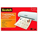 Scotch Thermal Laminating Pouches, 11.45 x 17.48-Inches, 25-Pouches (TP3856-25)