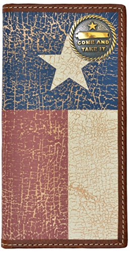(Custom Come and Take It Long Wallet with Distressed Texas Lone Star Flag)