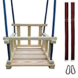 Miros Wooden Hanging Swing Seat Designed for Indoor and Outdoor Use for Baby from 1 Year