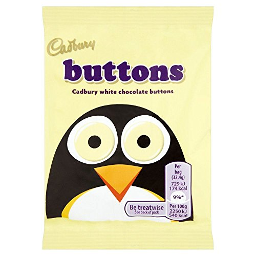 Cadburys White Buttons - 32.5g - Pack of 12 (32.5g x 12 ()